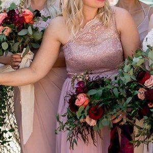 David's Bridal Bridesmaid Dress - Rose Gold